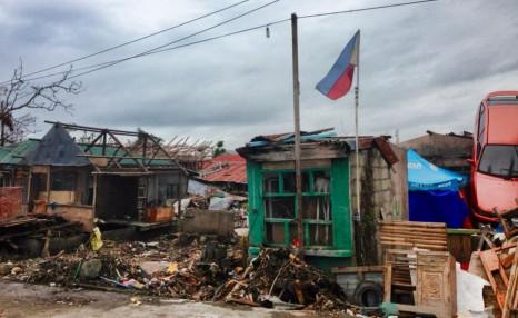 typhoon-devastated Philippines
