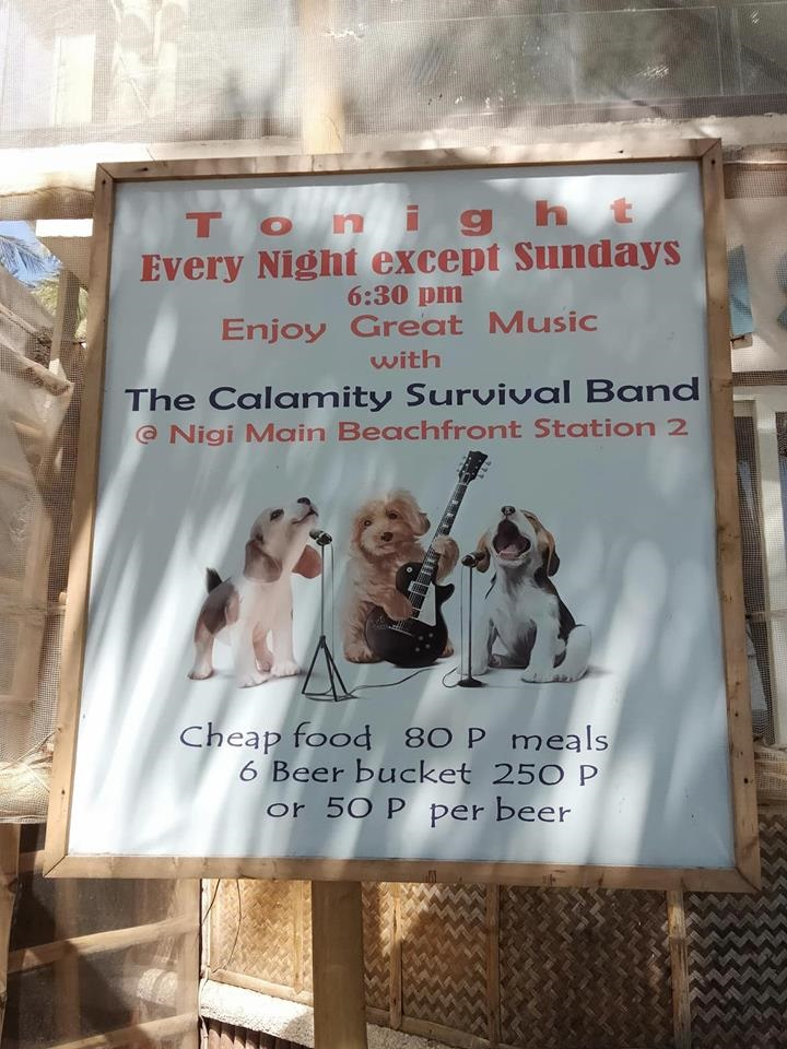 Poster of Calamity Survival Band. photo by: Cooper Resabal