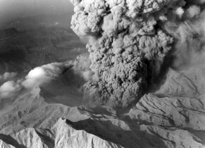 Mt. Pinatubo eruption. File photo from Phivolcs.