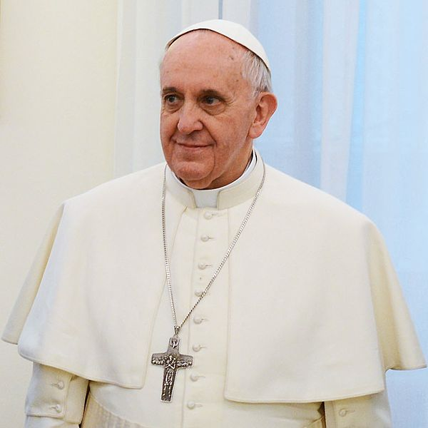 Pope Francis by wikipedia