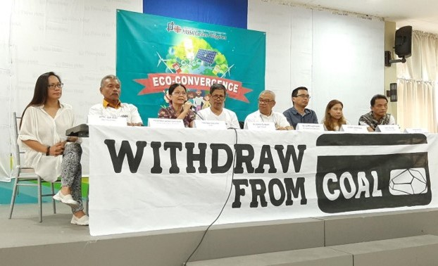 "Environment advocates launched the ""Withdraw from Coal"" campaign during the Visayas-Wide Church-CSO Empowerment for Environmental Sustainability (ECO-CONVERGENCE) Summit in San Carlos, Negros Occidental."
