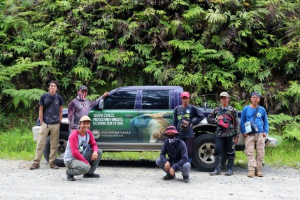 Expedition team for the Philippine eagle study in Pasonanca Natural Park Photo by Philippine Eagle Foundation and USAID Protect Wildlife